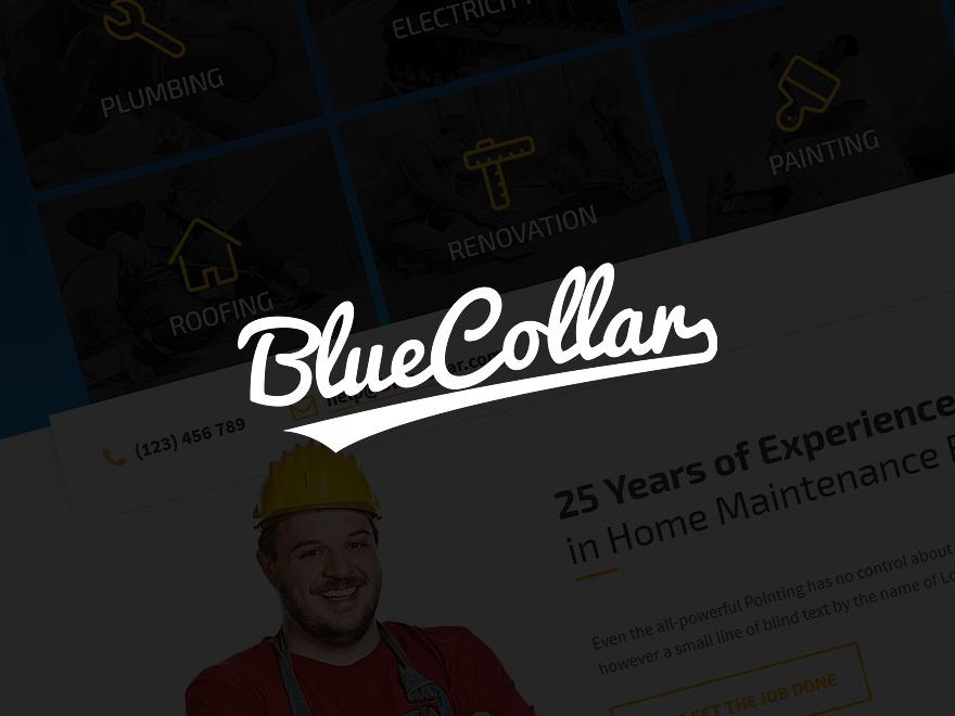 Blue Collar WordPress theme design