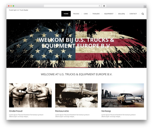 () Bouncy top WordPress theme - frank-spit.com