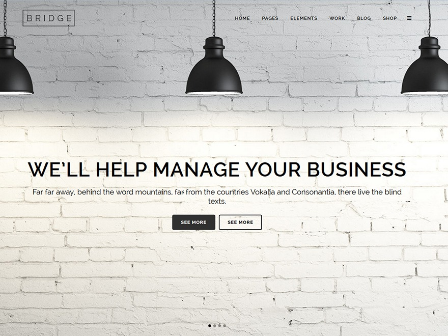 Bridge WordPress website template