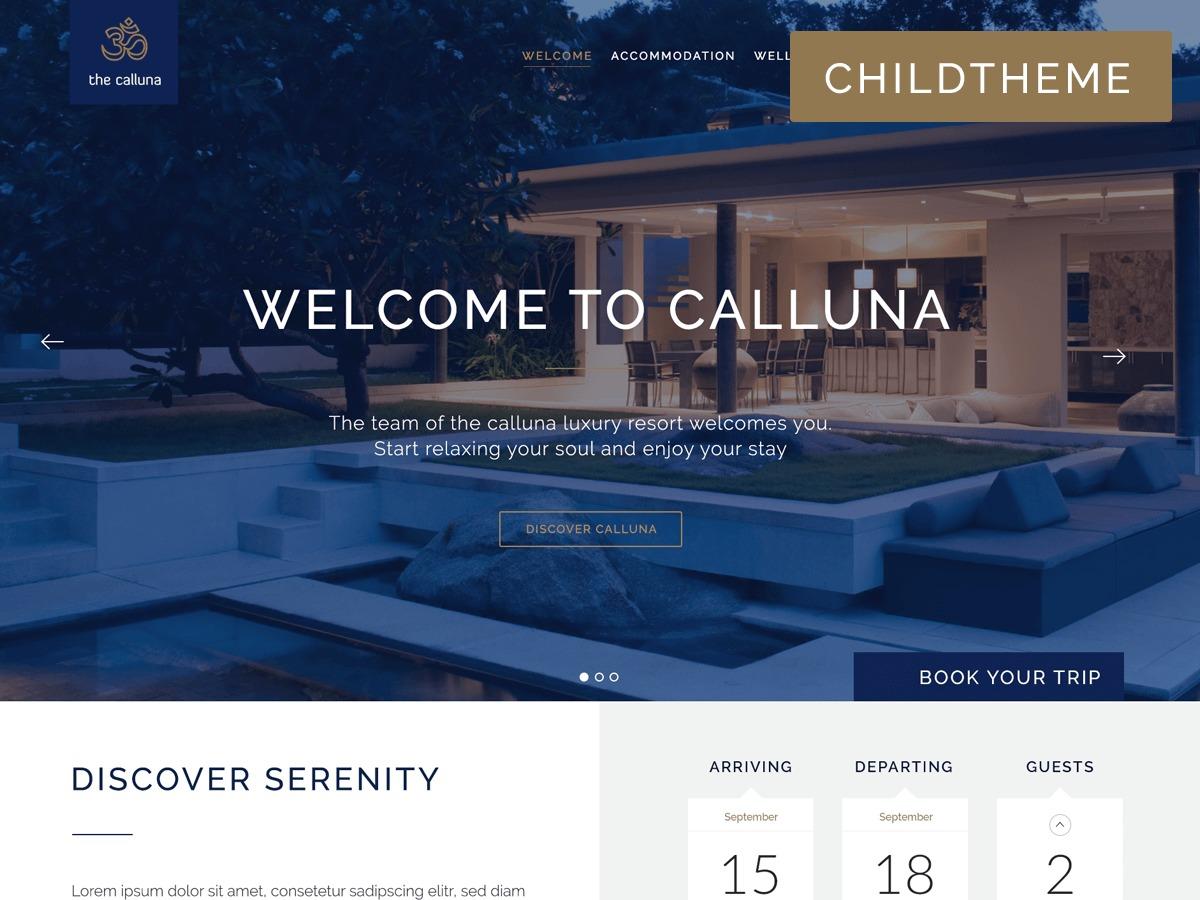 Calluna Child WP template