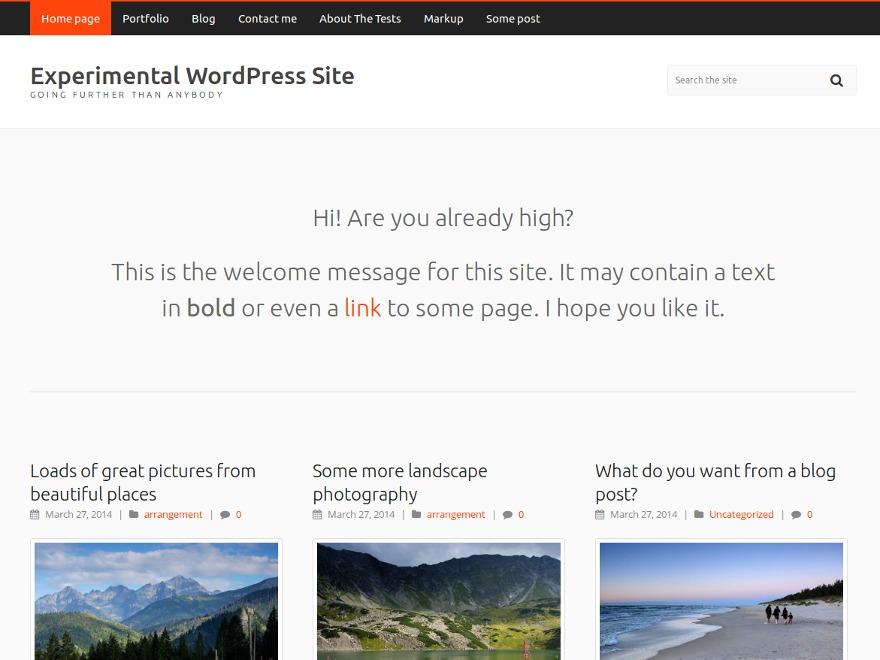 Carrot Lite WordPress blog template