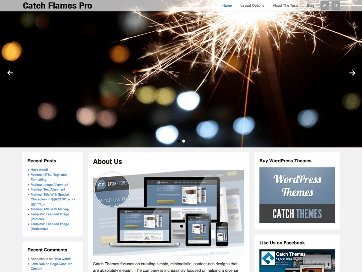 Catch Flames theme WordPress free