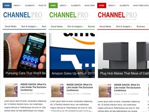 Channel WordPress page template