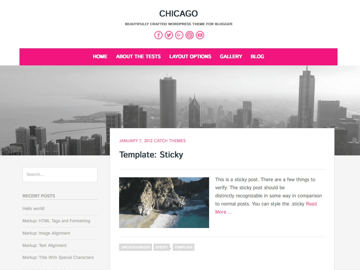 Chicago WordPress template free download