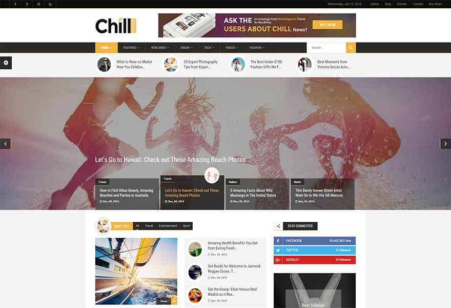 ChillNews WordPress news theme