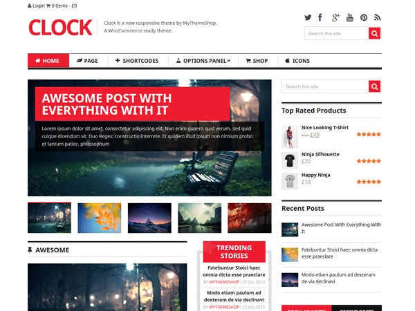 Clock by MyThemeShop best WooCommerce theme