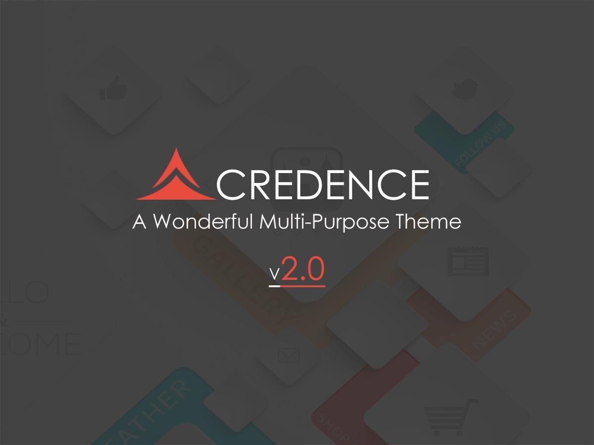 Credence WordPress website template