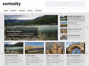 Curiosity best WordPress magazine theme