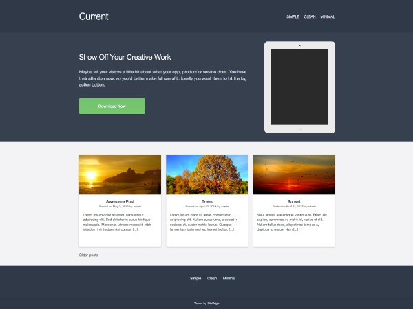 Current theme WordPress free