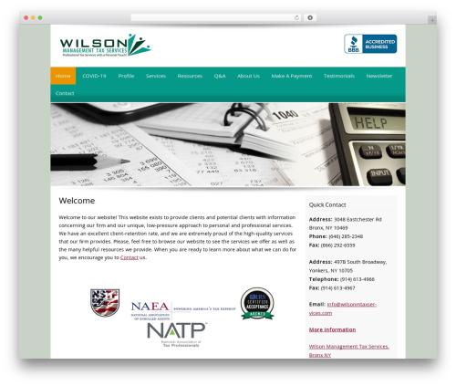 Customized WordPress theme - wilsonmtaxservices.com