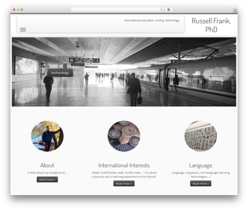 Customizr best free WordPress theme - frank-ed.com