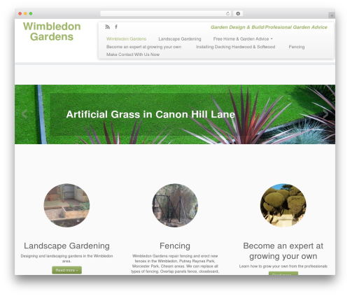 Customizr landscaping WordPress theme - wimbledongardens.co.uk