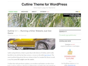 Cutline 1.4 (2-Column Right) WordPress theme