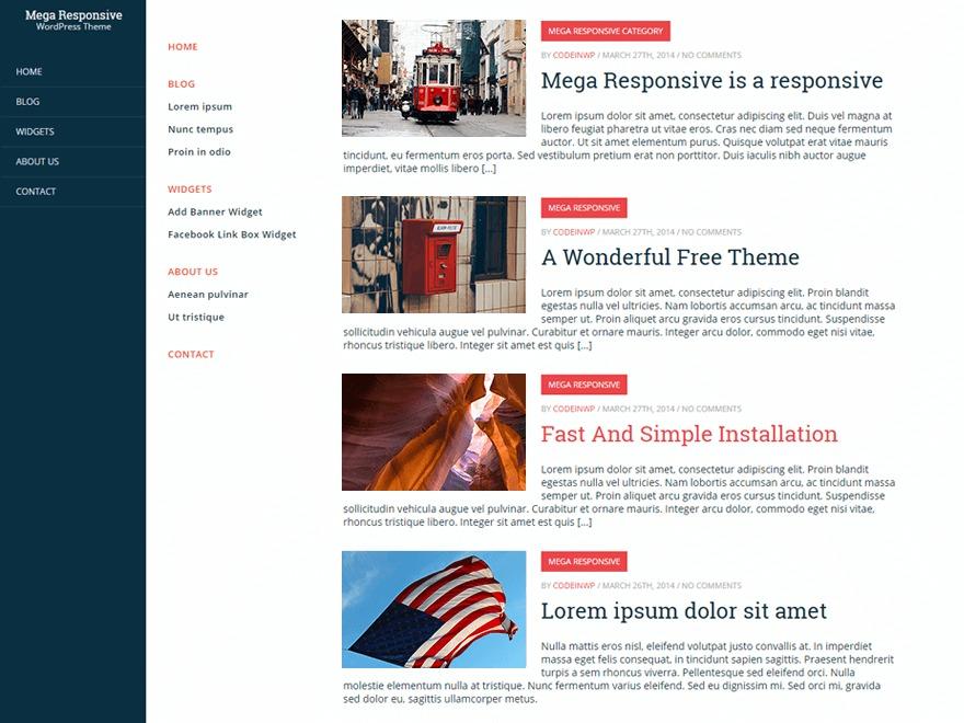 CWP MegaResponsive company WordPress theme