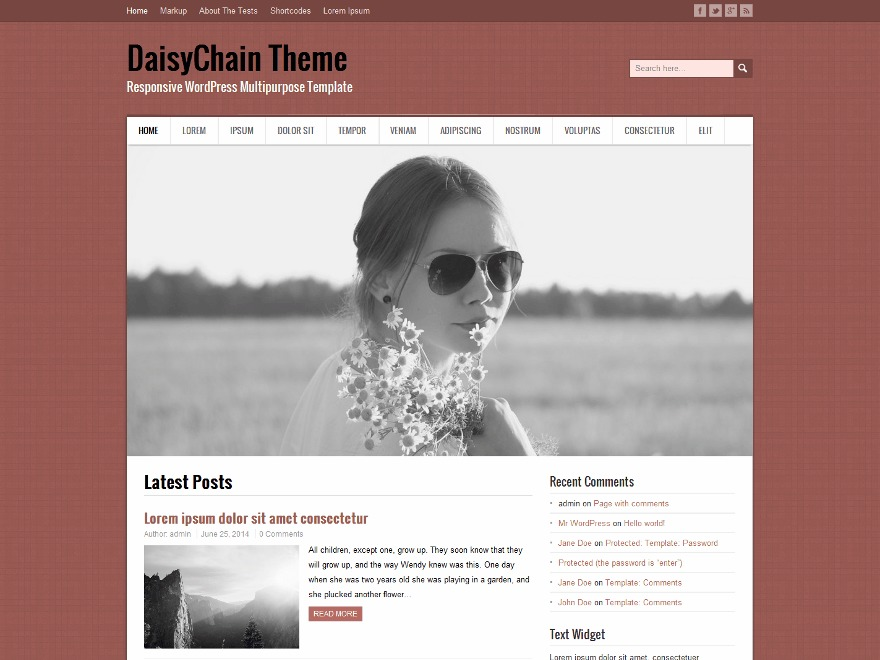 DaisyChain WordPress ecommerce theme