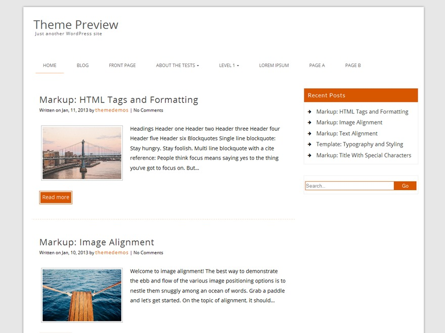 Decent WordPress blog template