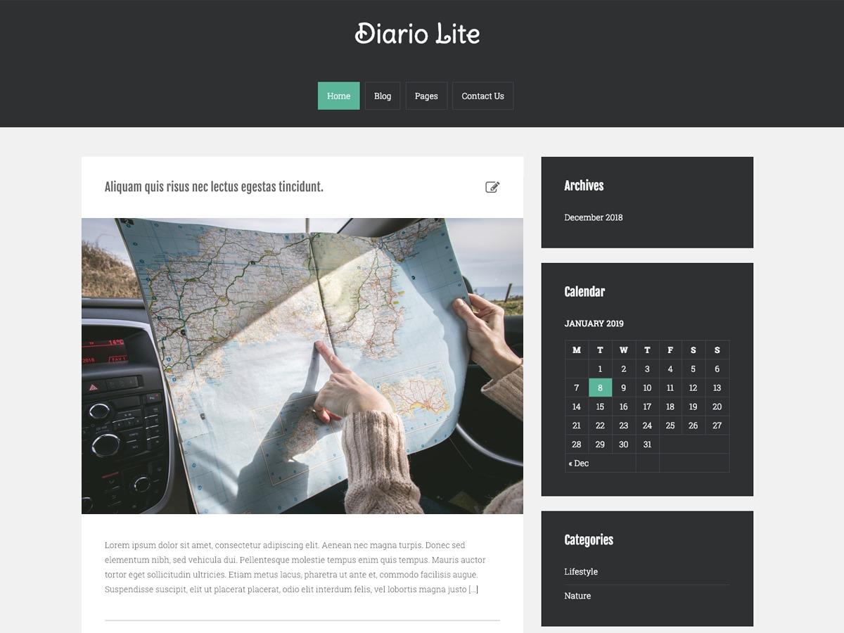 Diarjo Lite personal WordPress theme