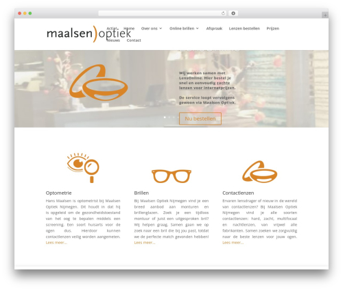 Divi best WordPress theme - maalsen.nl