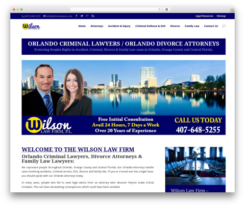 Divi WordPress theme - wilsonlawteam.com