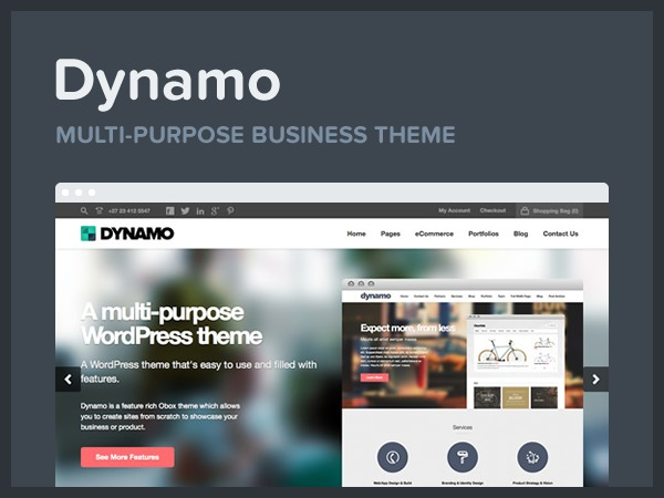 Dynamo WordPress ecommerce template