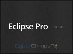 Eclipse Pro personal blog WordPress theme