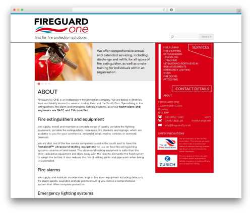 Free WordPress Icon Table of Contents and Menus plugin - fireguard1.co.uk