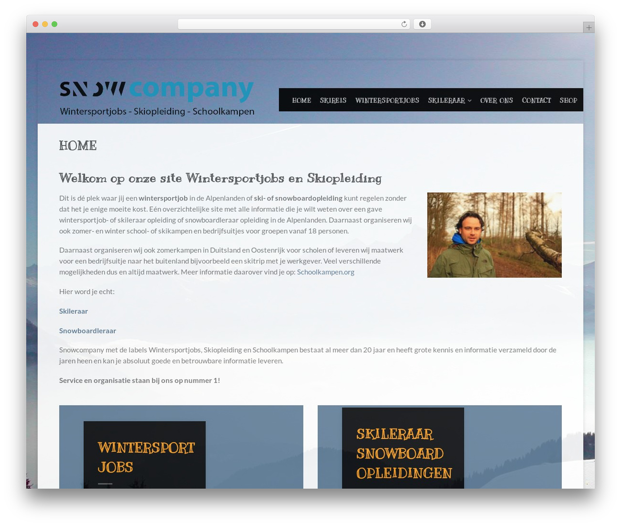 Flatsome WordPress page template - wintersportjobs.nl
