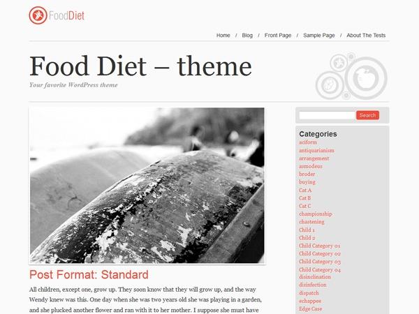 Food and Diet newspaper WordPress theme