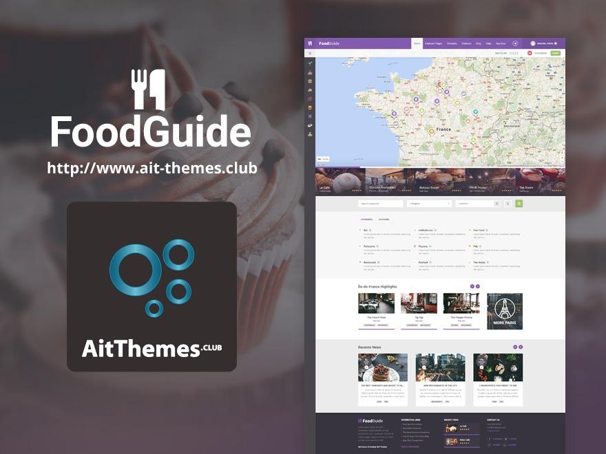 FoodGuide food WordPress theme