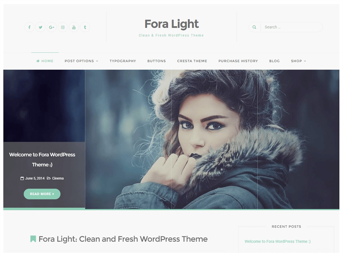 Fora WordPress theme free download