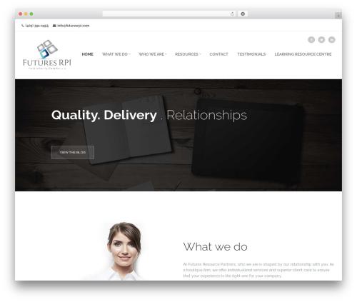 Frover Progression WordPress theme design - futuresrpi.com