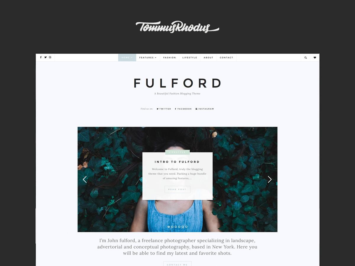 Fulford WordPress blog theme
