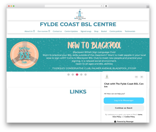 Fylde Coast BSL Centre top WordPress theme - fyldecoastbslcentre.co.uk