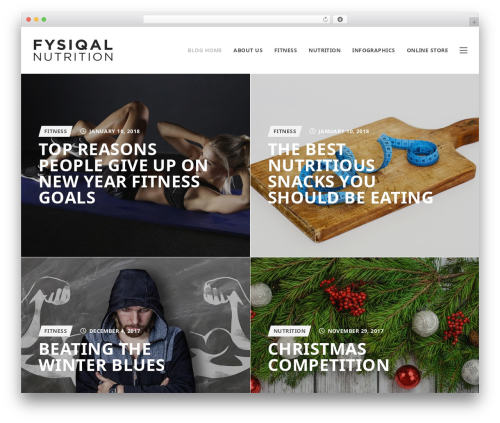 Fysiqal Nutrition WP theme - fysiqalnutrition.com/blog