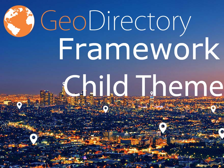 GeoDirectory Framework Child WordPress website template