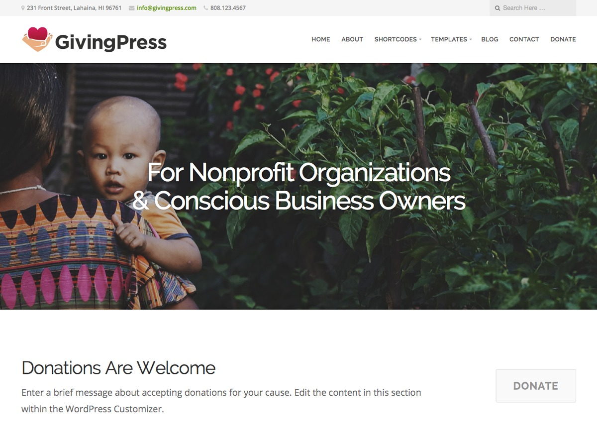 GivingPress Lite best free WordPress theme