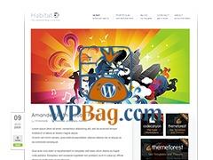 Habitat WordPress blog template