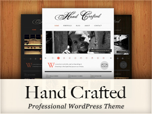 Hand Crafted WordPress blog template