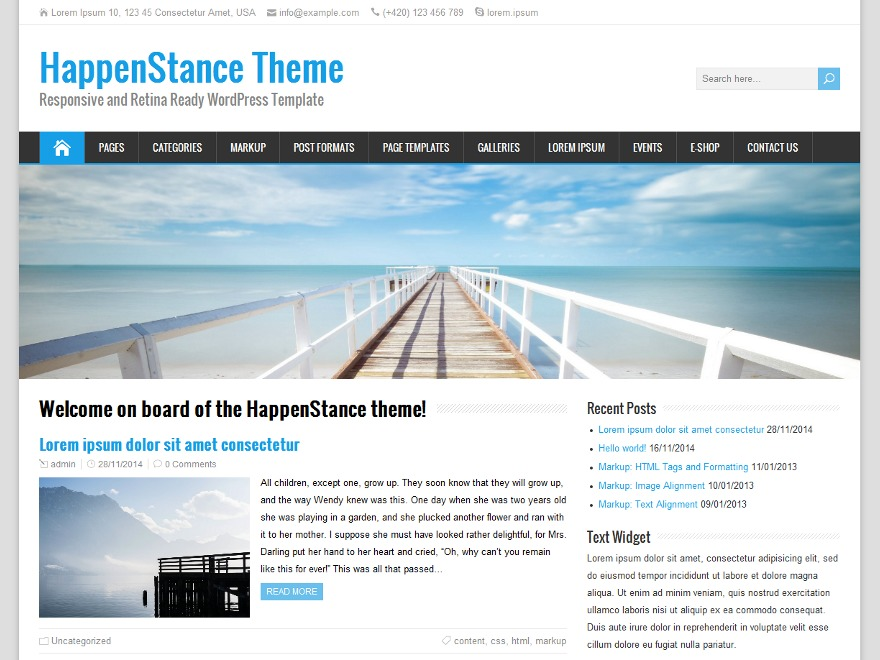 HappenStance Child WordPress theme