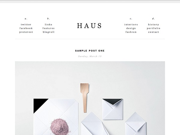 haus theme WordPress