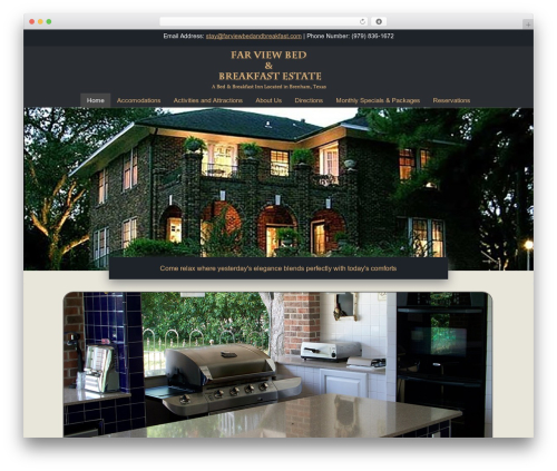 Headway Base WordPress theme - farviewbedandbreakfast.com