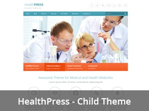 HealthPress Child Theme WordPress page template