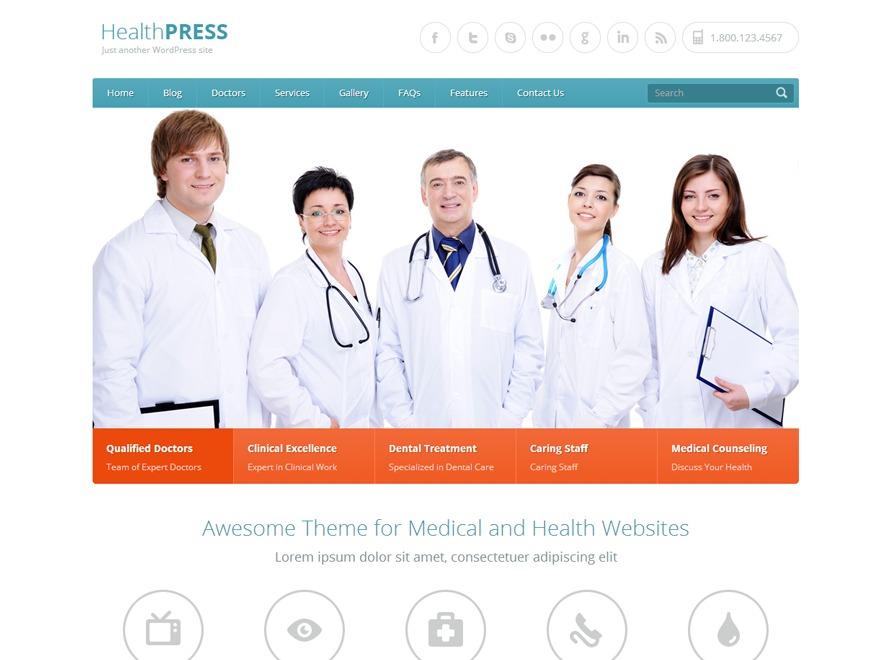 HealthPress Theme medical WordPress theme