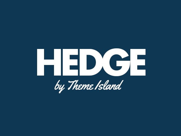 Hedge WordPress page template