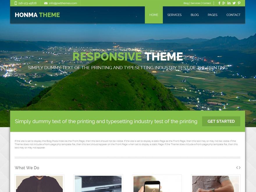 Honma PRO WordPress blog template
