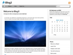 iBlog WordPress blog template