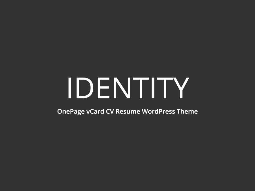 identity-vcard premium WordPress theme