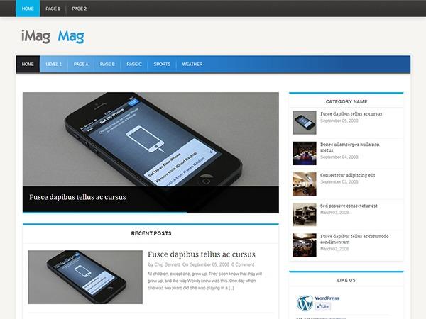 iMag Mag newspaper WordPress theme
