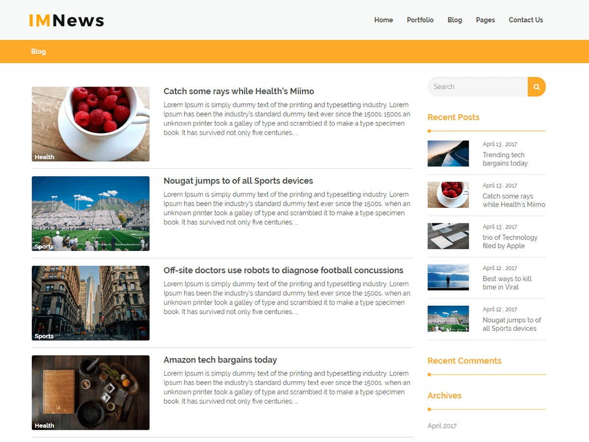 IMNews WordPress magazine theme