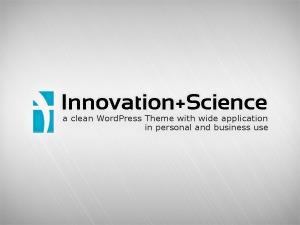Innovation+Science theme WordPress portfolio